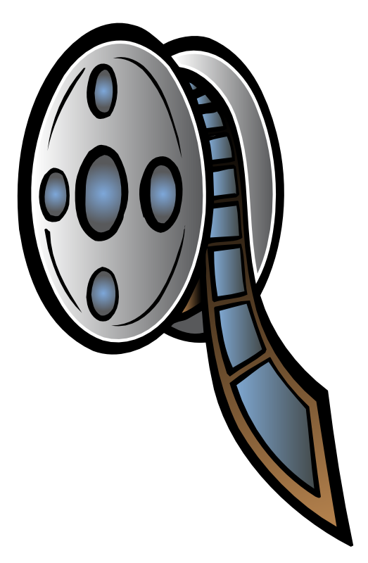 Movie cartoon. Free film reel clipart