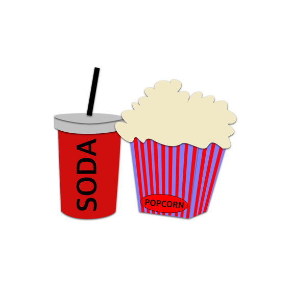 Film clipart soda. Pop popcorn snacks kino