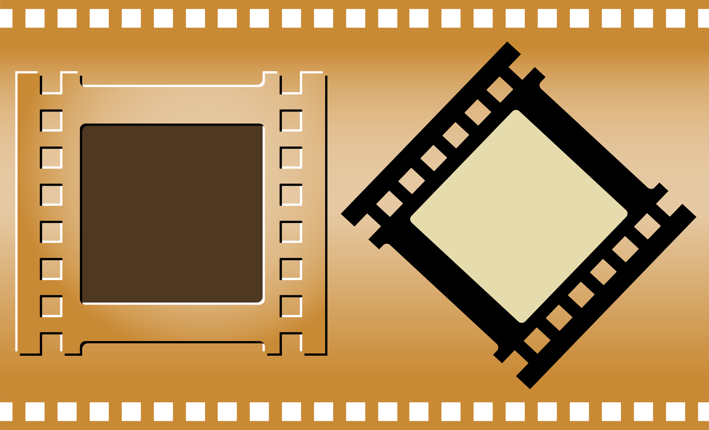 Movie poster frame png. Three film strips icons