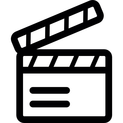 Movie png icon. Cinema icons strip play
