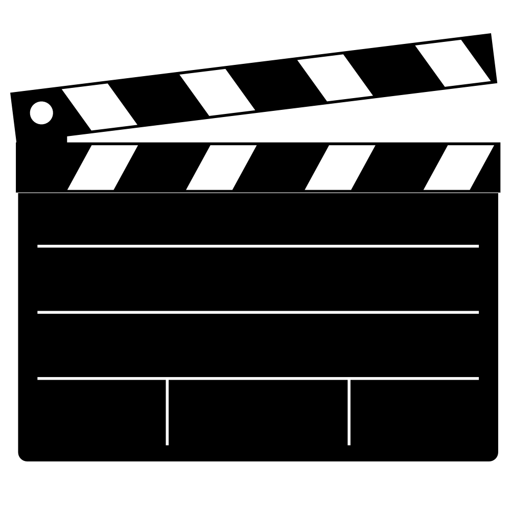 Movies vector snapper thing. Onlinelabels clip art clapper