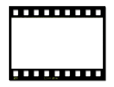 Png film strip. Black and white transparent