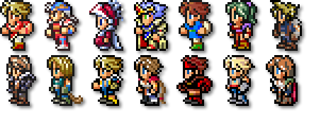 Final fantasy sprite png. Question about art rpg