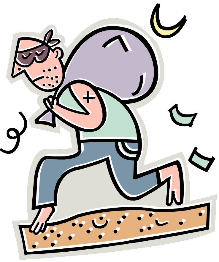 Finance clipart public property. Free cartoon robber download