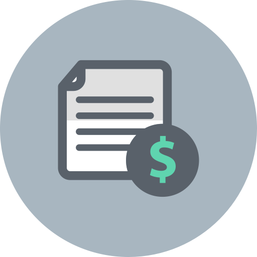 Finance icon png. Business document dollar file