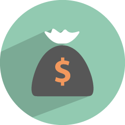 Finance icon png. Dollar collection flat iconset