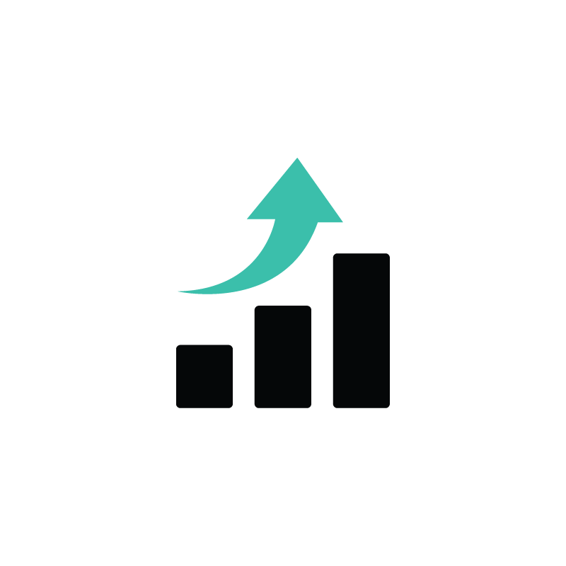 Statistics vector. Analytics sales finance icon