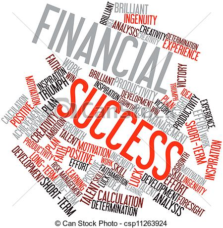 Financial clipart financial success.