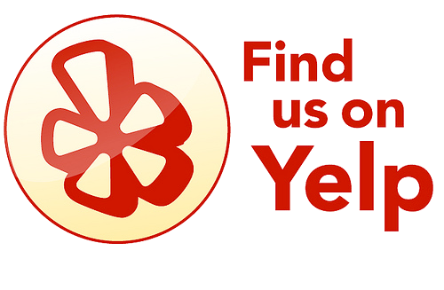 Find us on yelp png. Call or email to