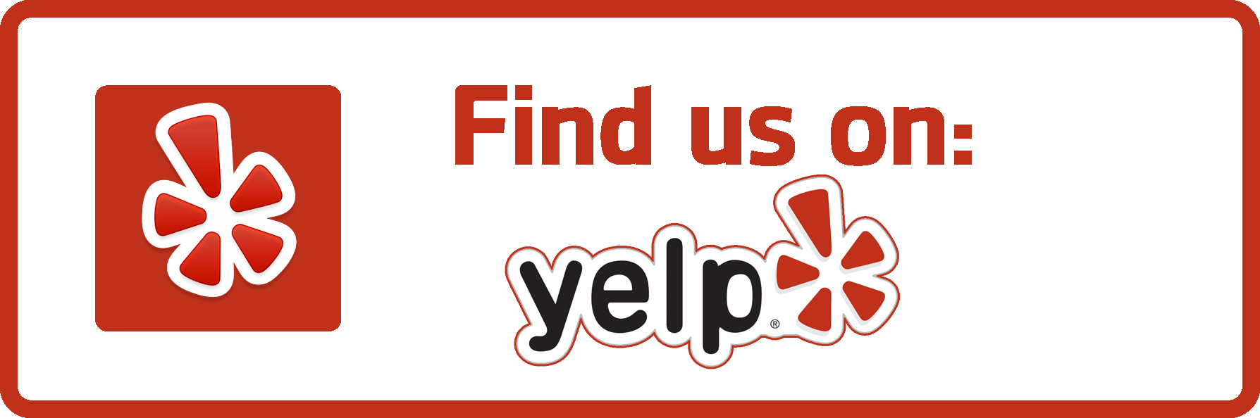 Find us on yelp png. Leave a review specialty