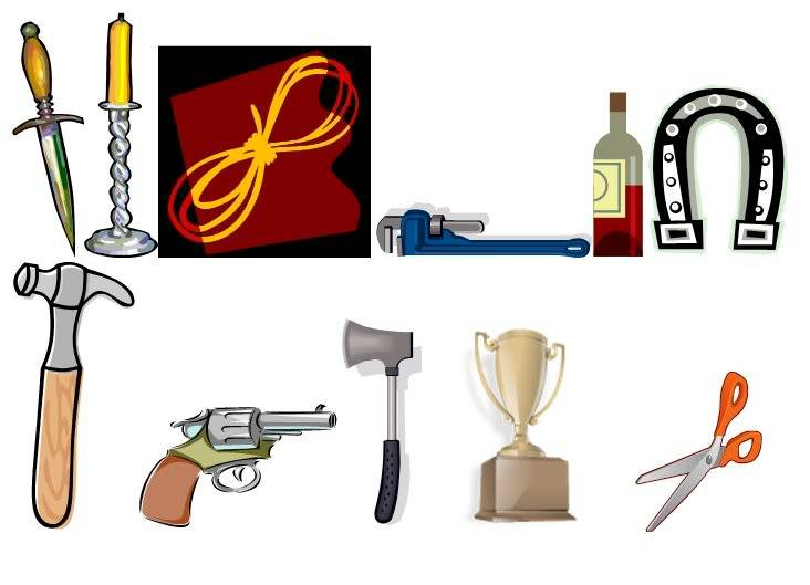 Finding clipart cluedo. Theartofmurder com clue discussion