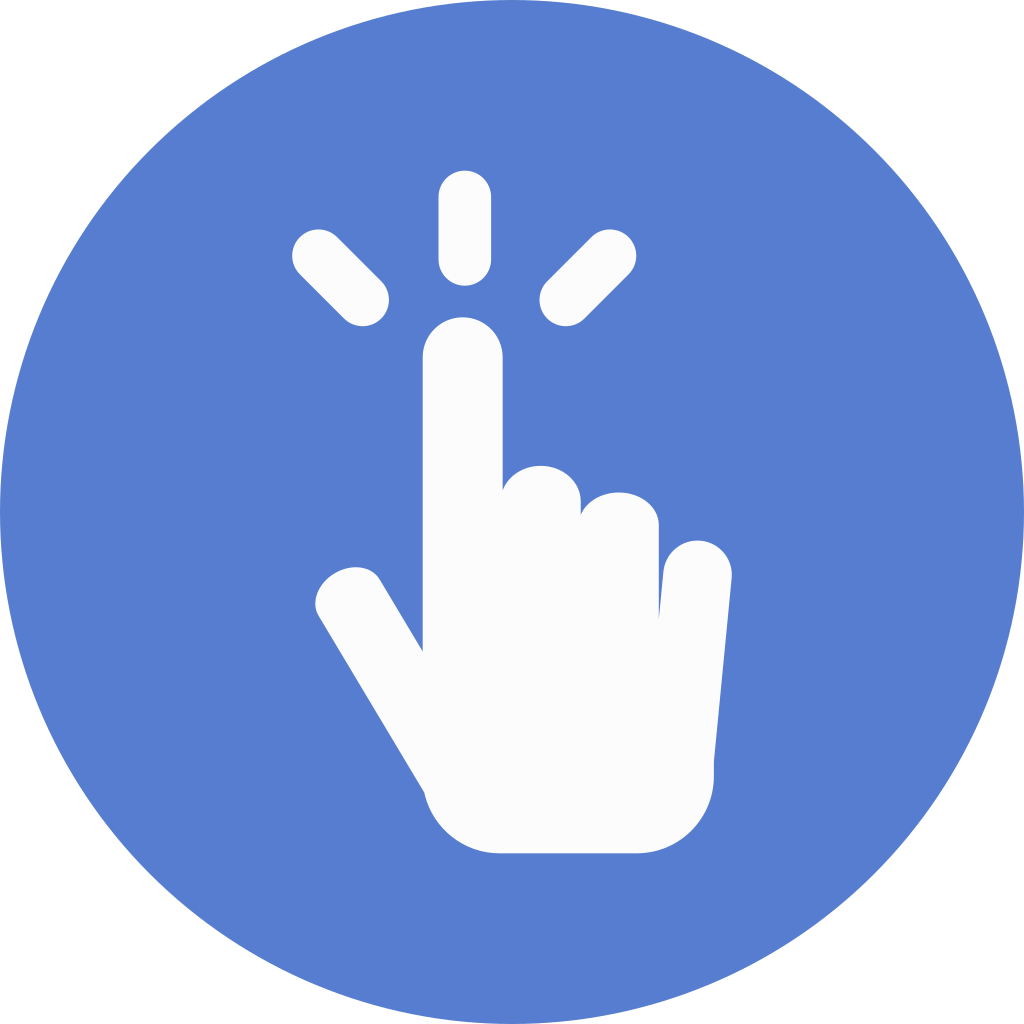 Finger circle png. Election polling icon blue