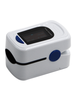 Finger clip pulse oximeter. High accuracy oled type