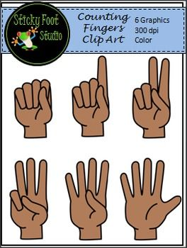 Finger clipart 9 object. Counting fingers clip art