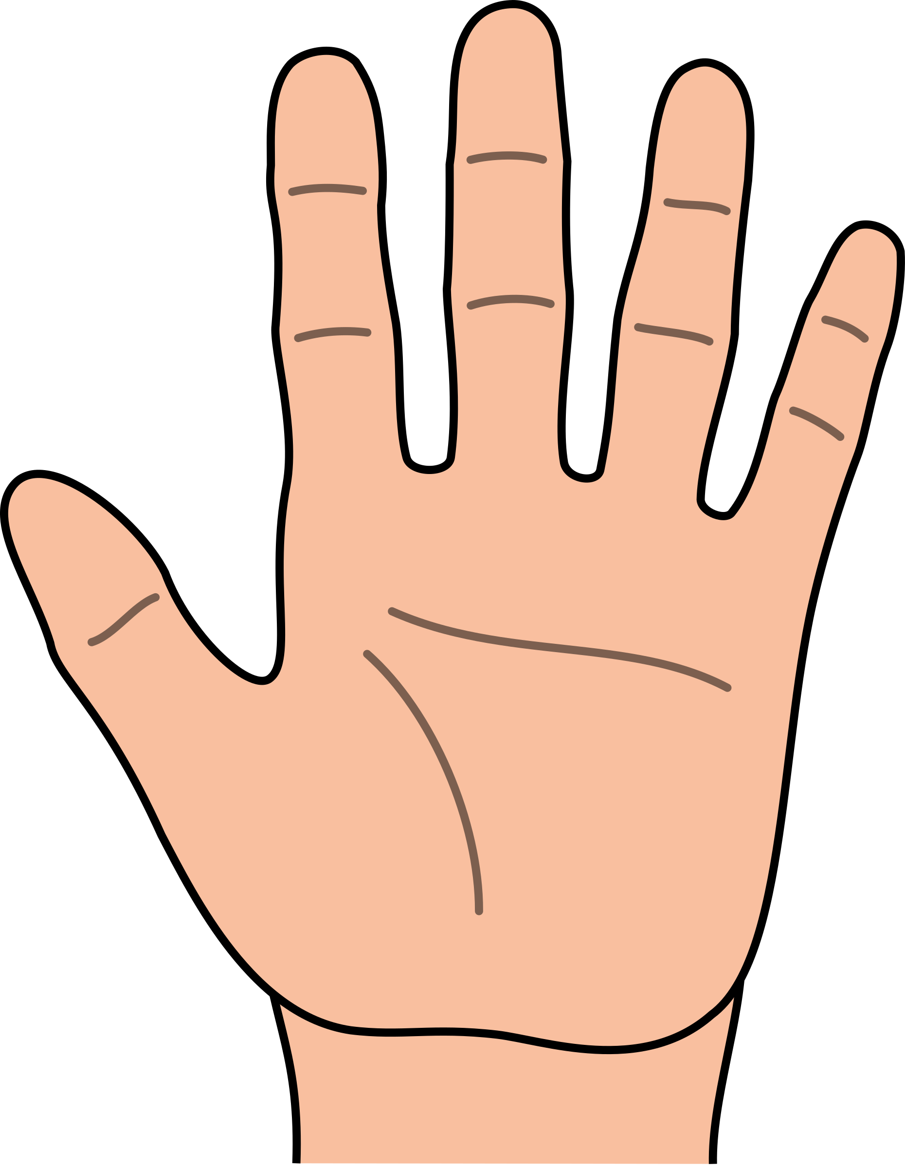 high five clipart yellow hand