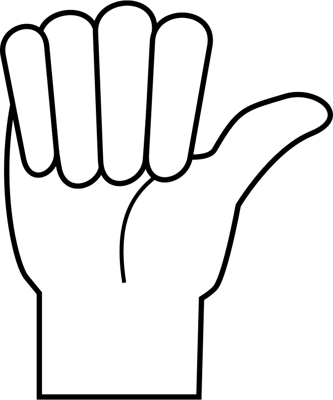 Finger clipart fore. Fingers large hand clip