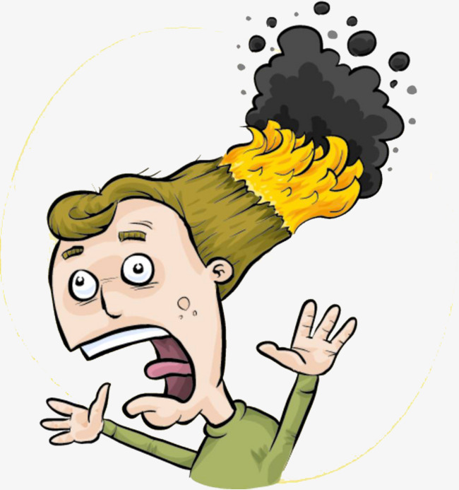 Finger clipart fore. Hair burning to catch