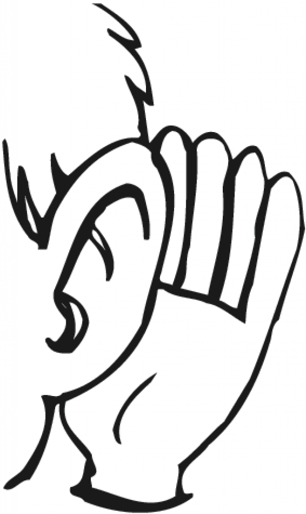finger clipart in ear