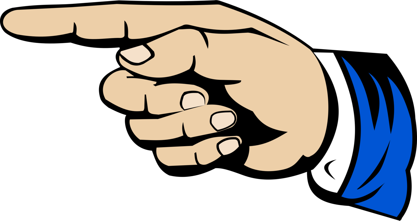 Finger clipart pinky finger. Index point middle thumb