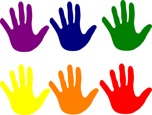 Color clipart. Free little hand cliparts
