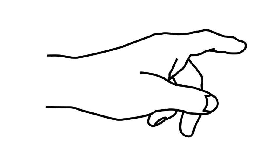Fingers drawing outline. Free pointing finger cliparts
