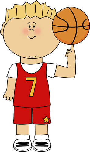 Finger clipart themed. Basketball player balancing ball