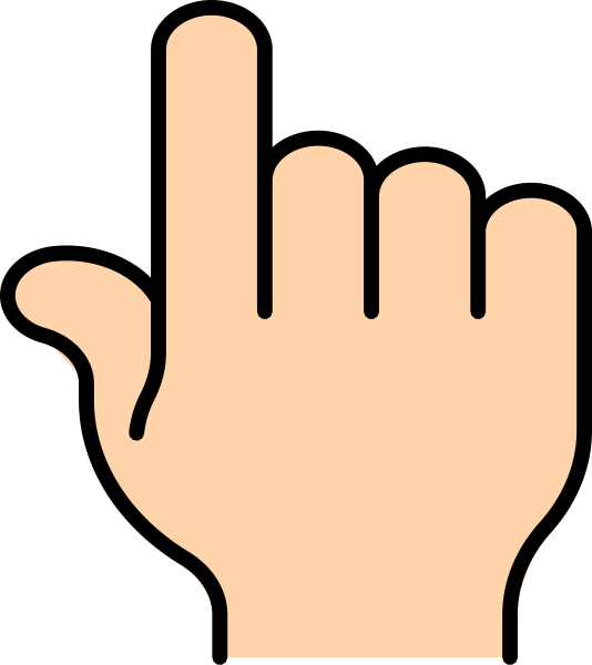 Pointer finger art at. Clip download vector freeuse library