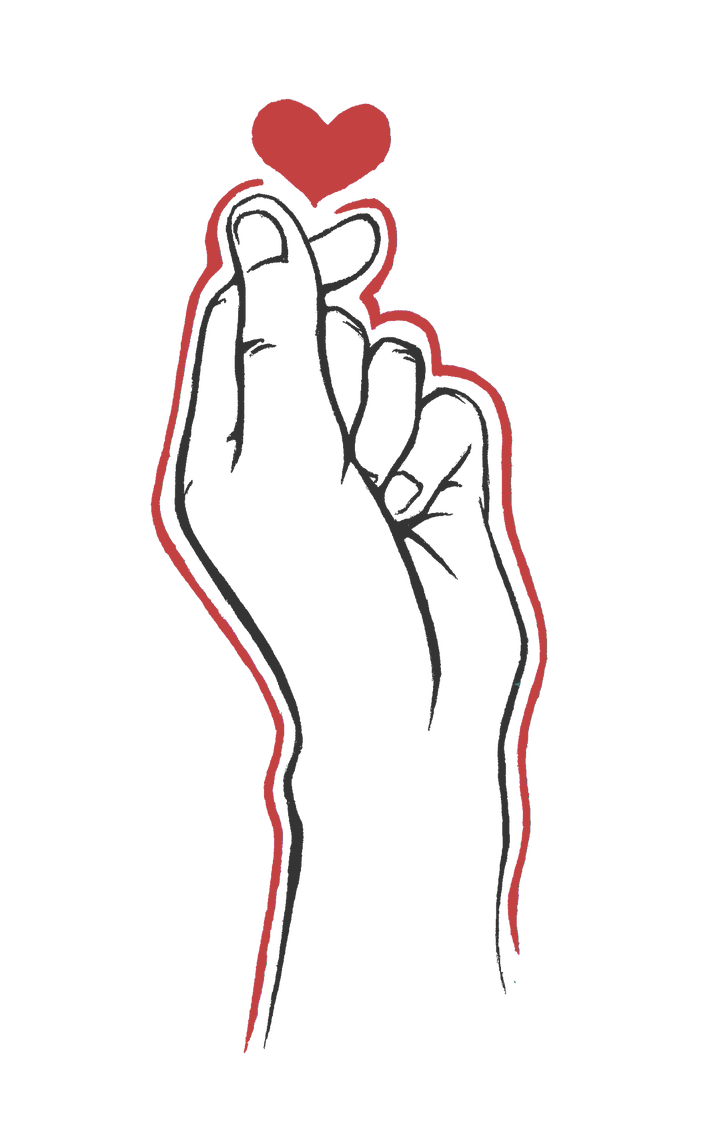 Finger heart png. Art by legharcan on