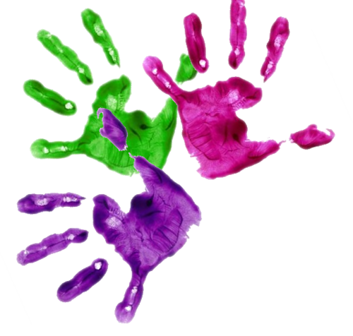 Finger painting png. Painted hands twitter