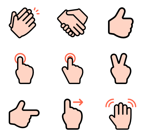 Finger png. Icon packs vector