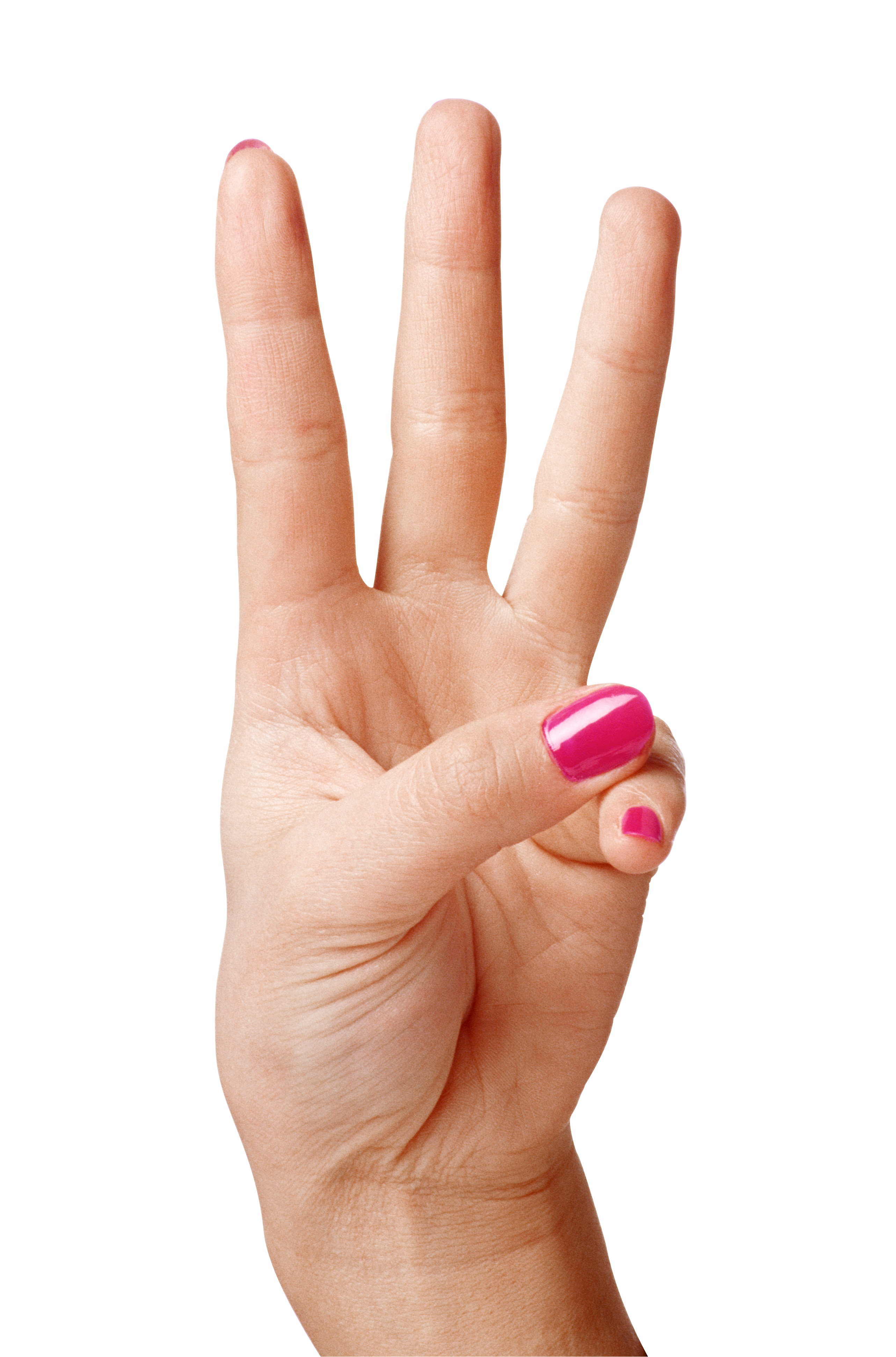 Transparent finger three. Hand showing fingers png