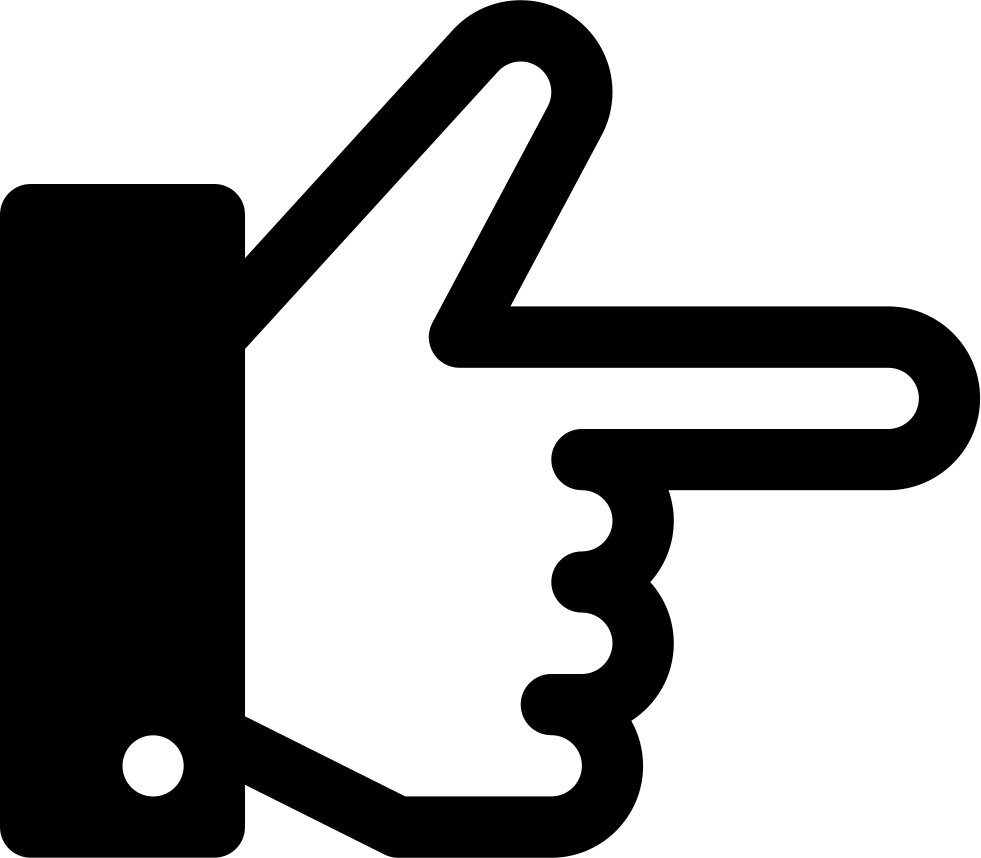 Finger point right png. Direction hand svg icon
