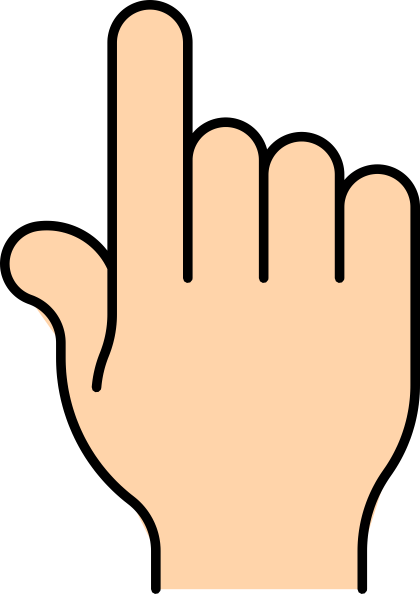 Transparent finger small. Pointing clip art at