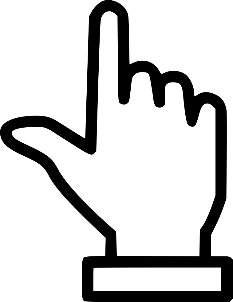 Finger pointing up png. Hand svg icon free