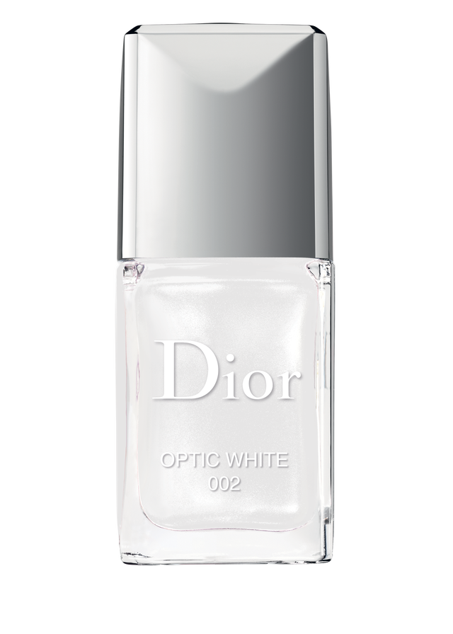 Fingernail vector beauty nail. Dior polish optic white