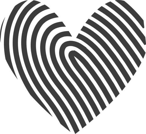 Fingerprint clipart identity. Free online heart fingerprints