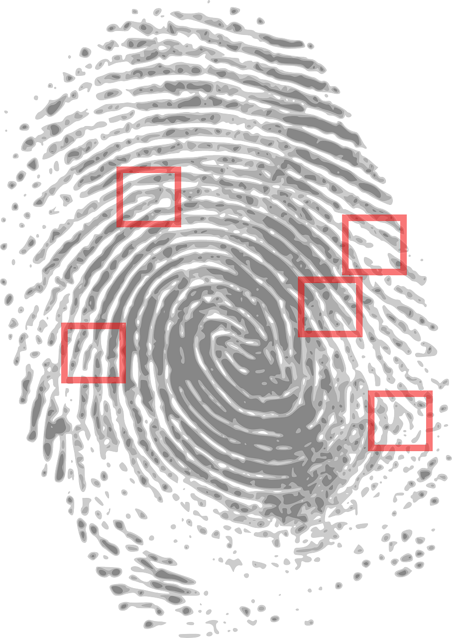 Fingerprint clipart magnifier. Banner royalty free