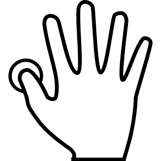 Fingerprint clipart right thumb. Scanning free interface icons