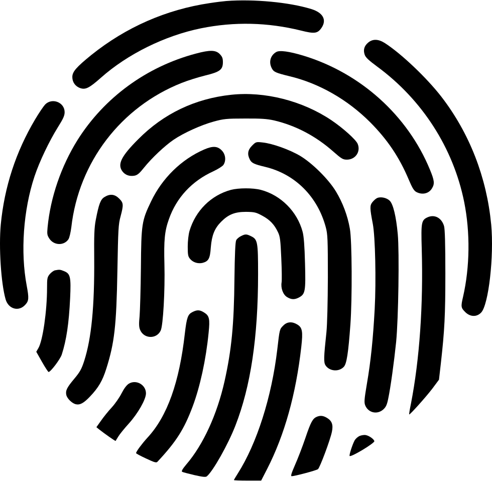 Fingerprint svg icon. Apple pay payment method