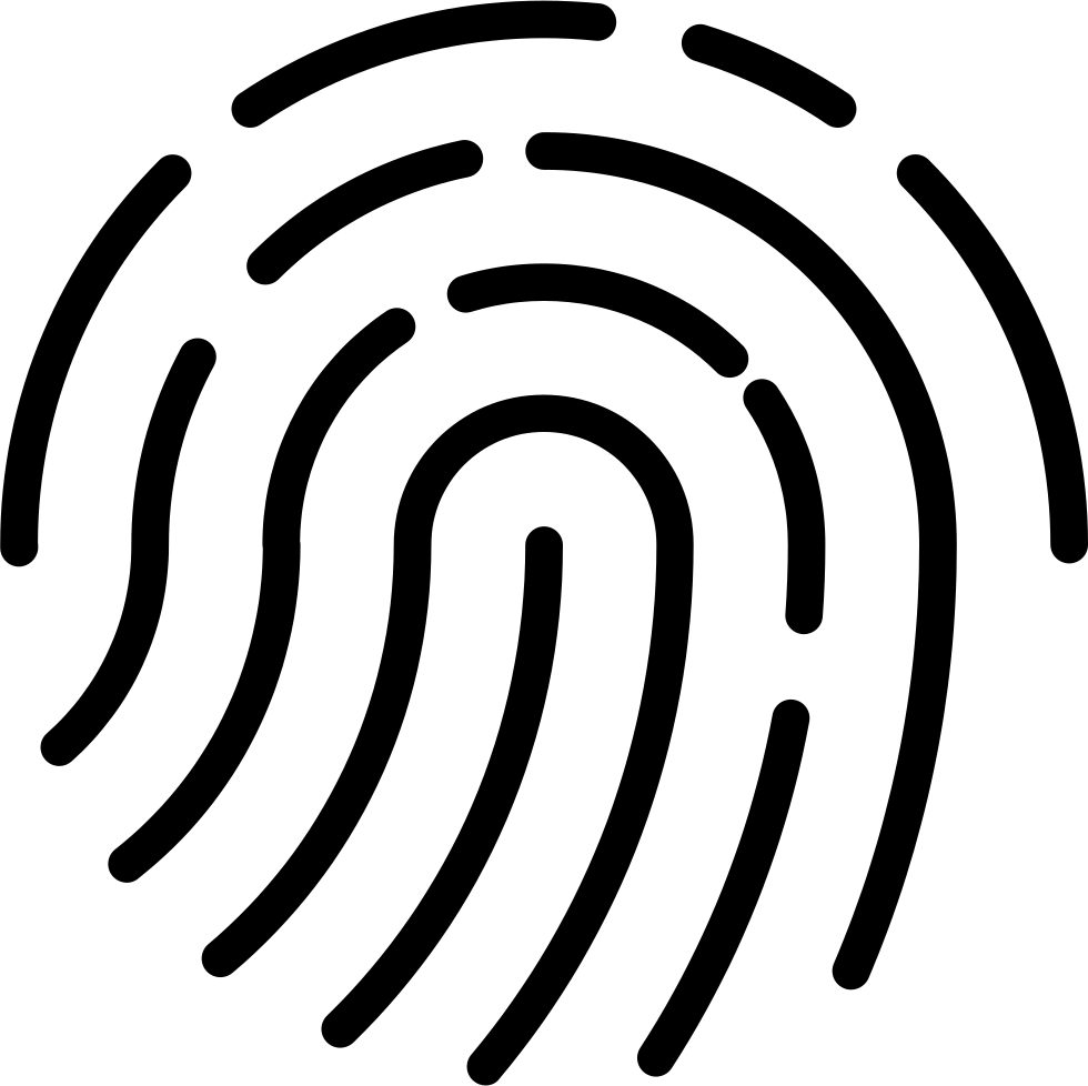 Fingerprint svg icon. Augic png free download