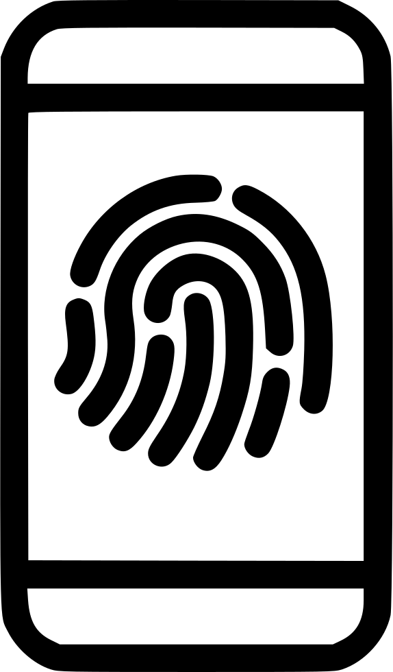 Fingerprint svg iphone. Scan access png icon