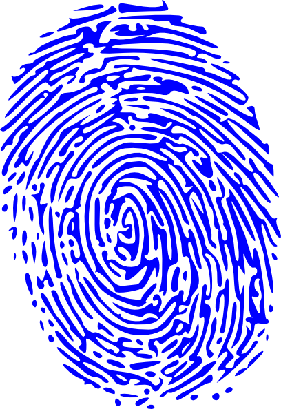 Fingerprint svg large. Blue clip art at