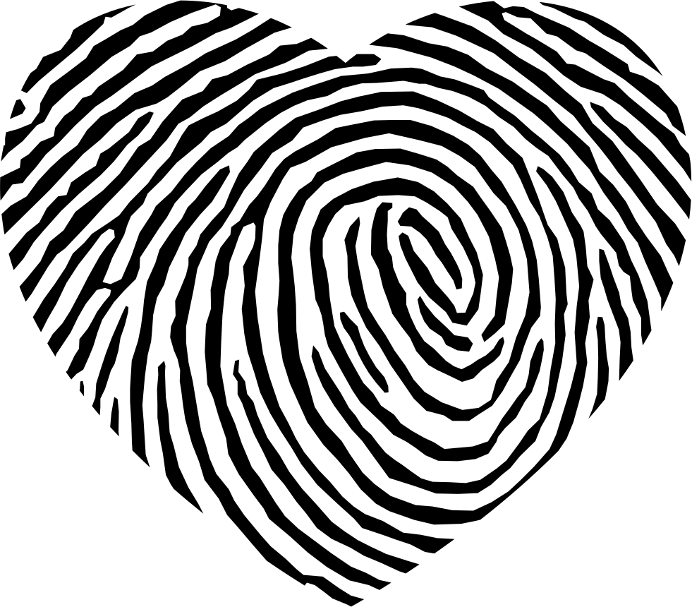 Fingerprint svg large. Heart shape png icon