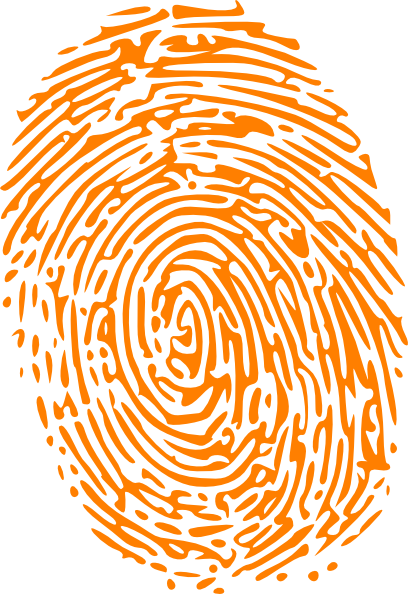 Fingerprint svg orange. Clip art at clker