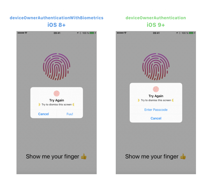 Svg id touch. Authentication tutorial for swift