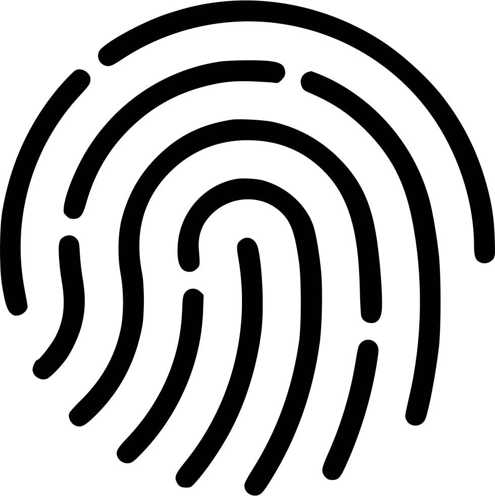 Fingerprint svg touch id. Access png icon free