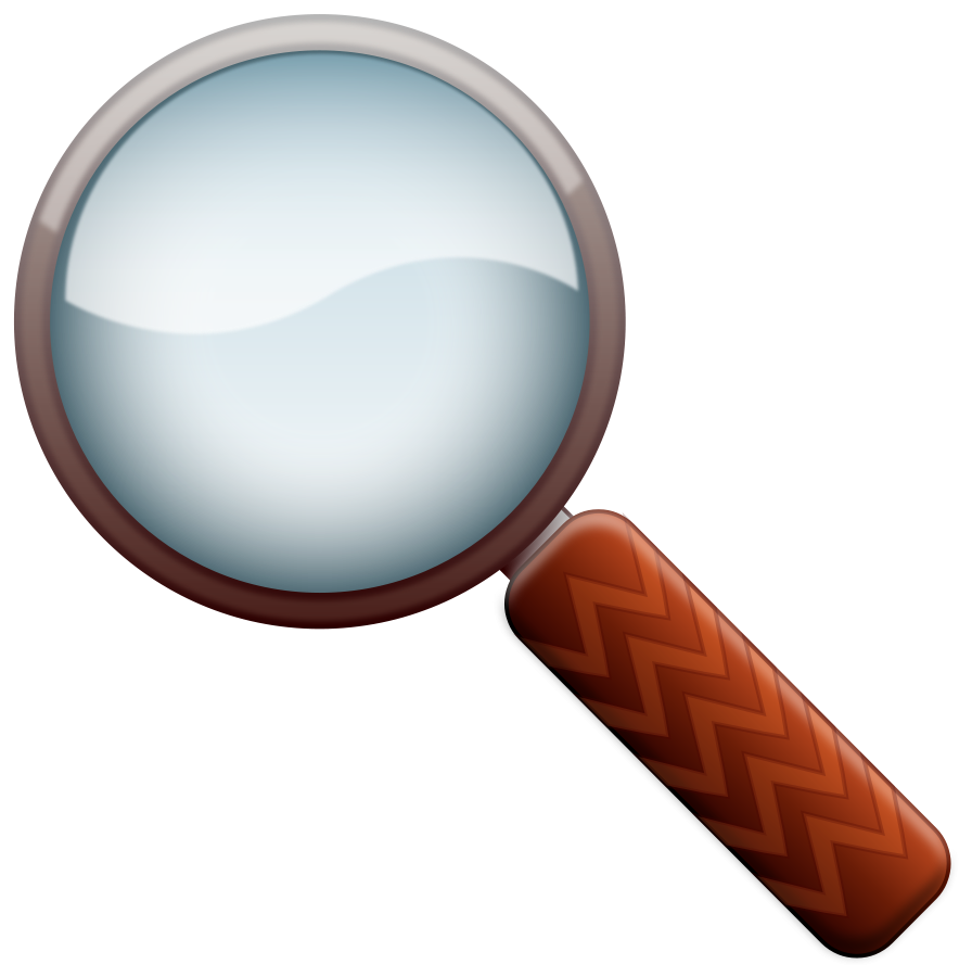 Fingerprint transparent magnifying glass. With banner royalty