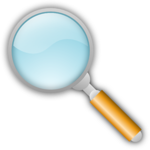 Fingerprint transparent magnifying glass. With clipart panda free