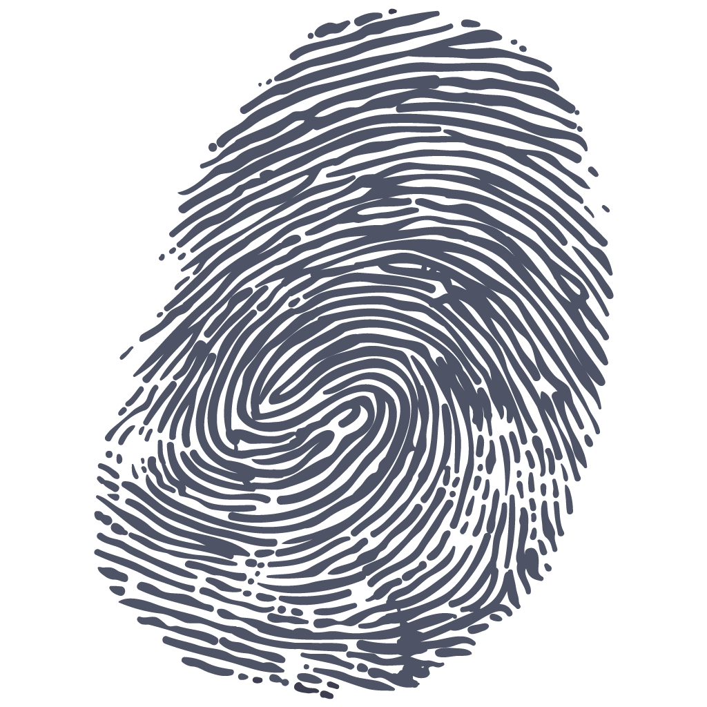 Fingerprint transparent png. Grey stickpng download