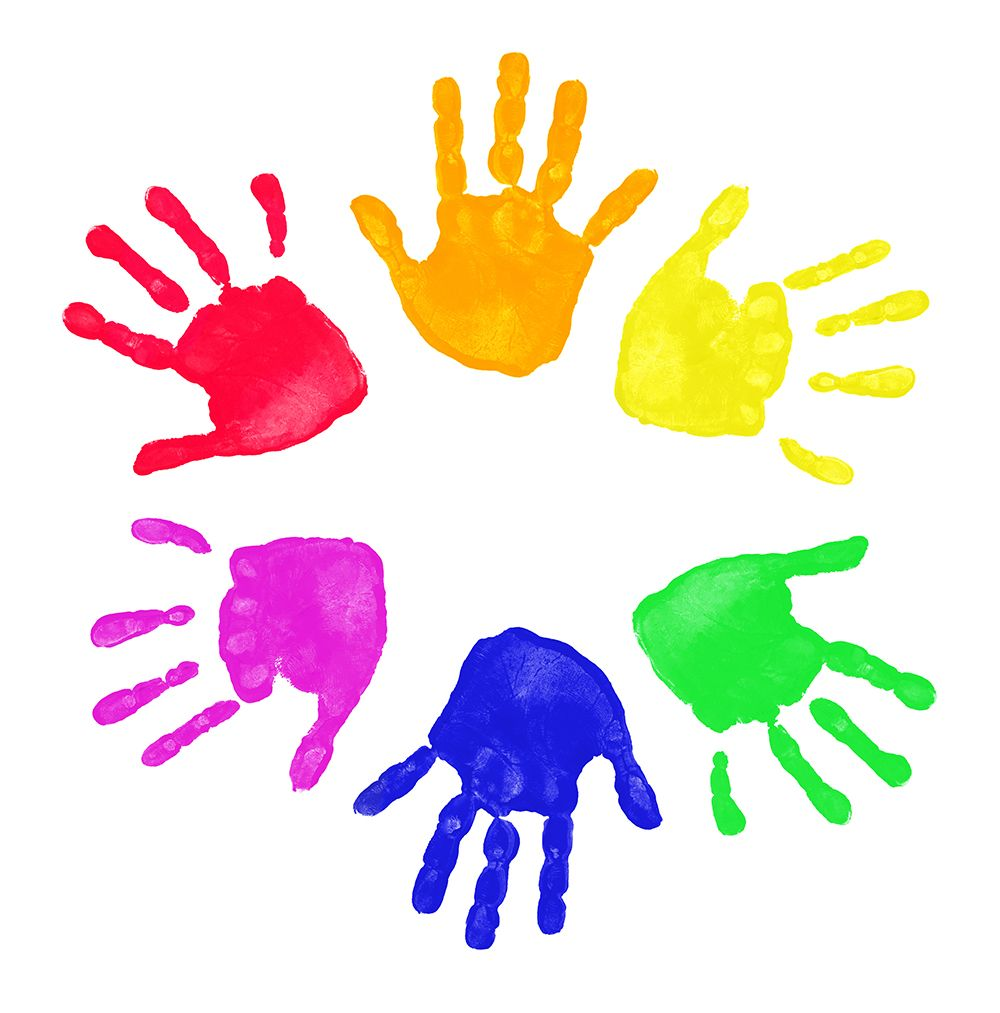 Fingers clipart childrens. Children hand print best
